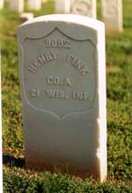 Henry Fink fought and died in the U.S. War between the States